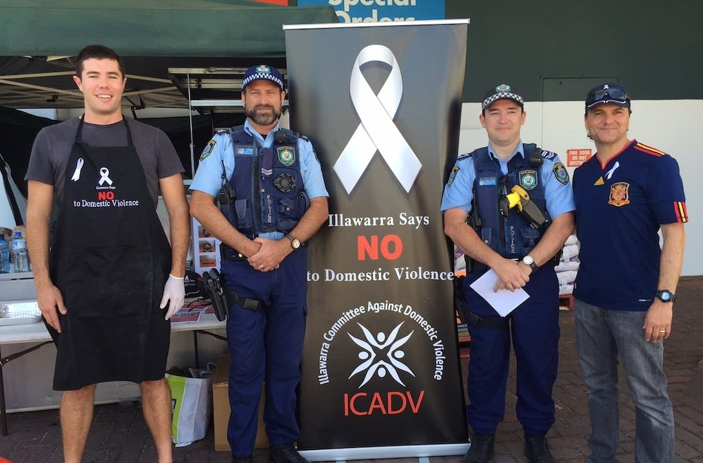 Bunnings BBQ White Ribbon Day Event