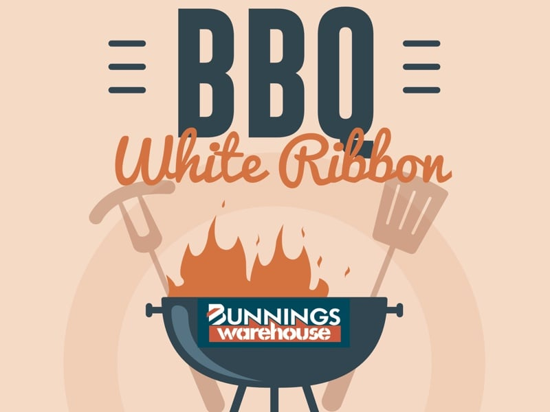 White Ribbon Bunnings BBQ 2018
